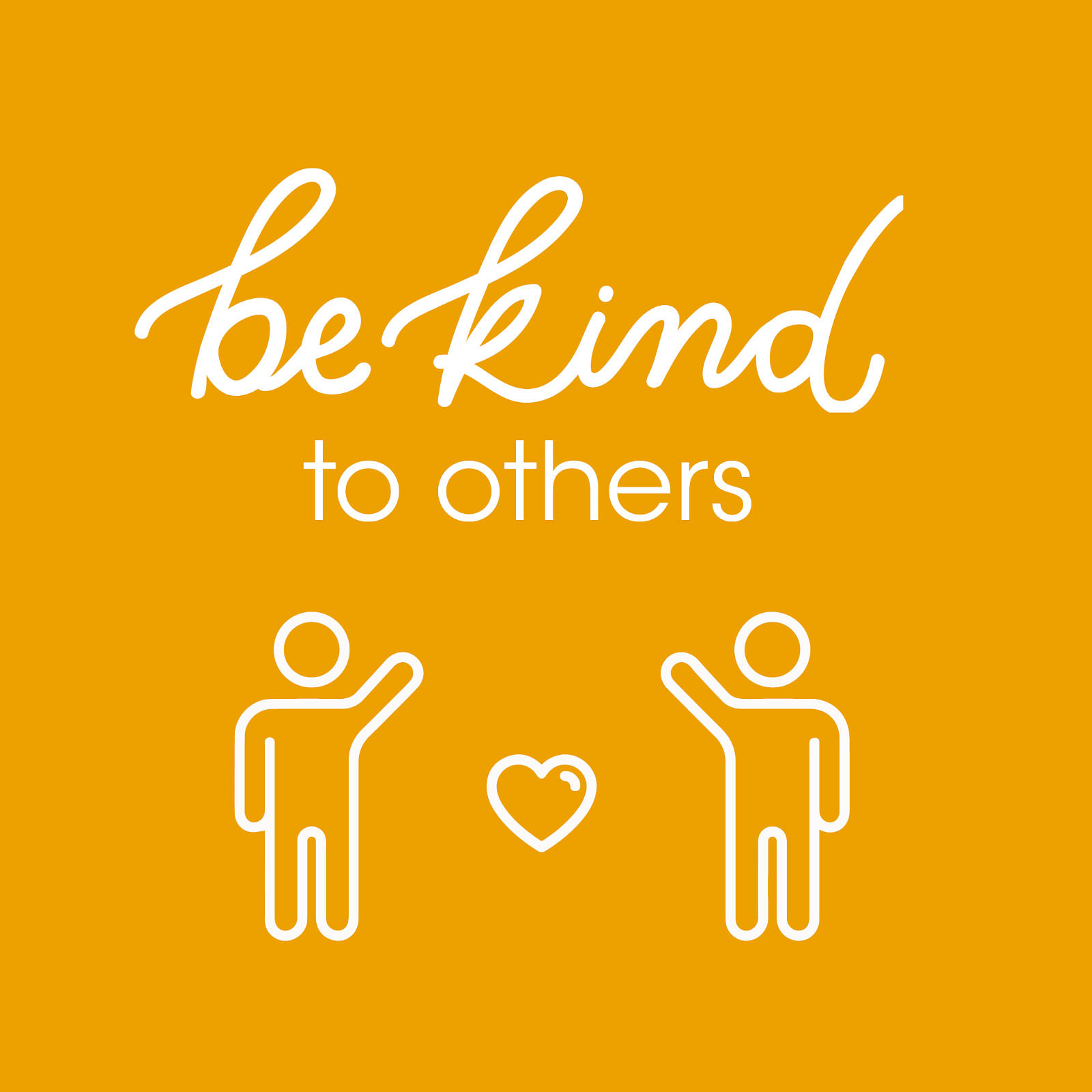 Text: be kind to others