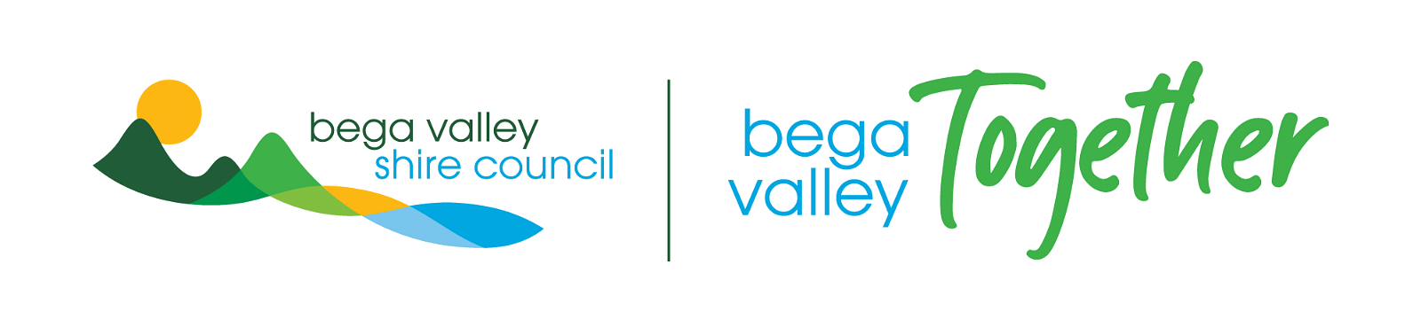 Logo, Bega Valley Shire Council and Bega Valley Together.