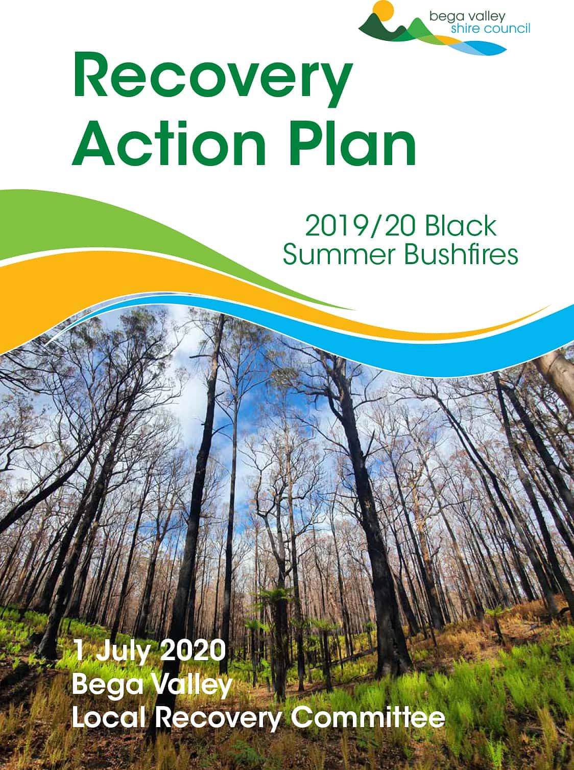 mage: Cover of the Bega Valley Recovery Action Plan and link to document.