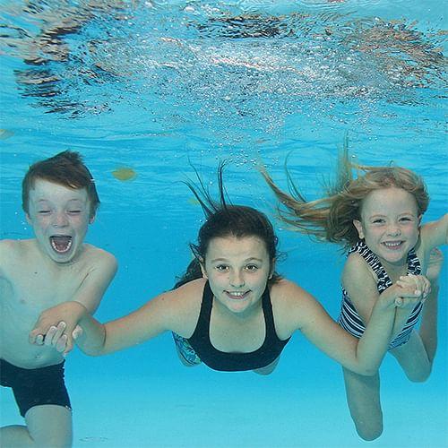 Children enjoying the Shire's pools.