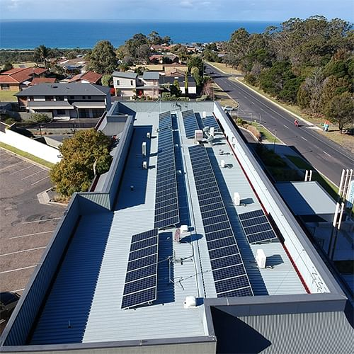 Tura Beach Library solar panels.