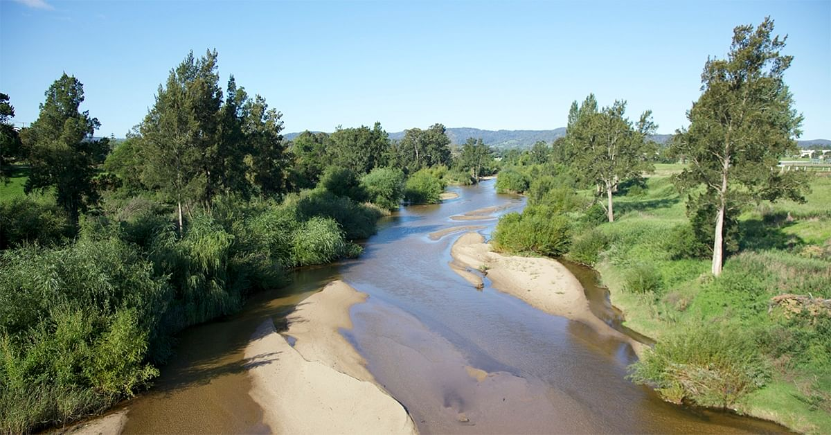Text: photo of bega river