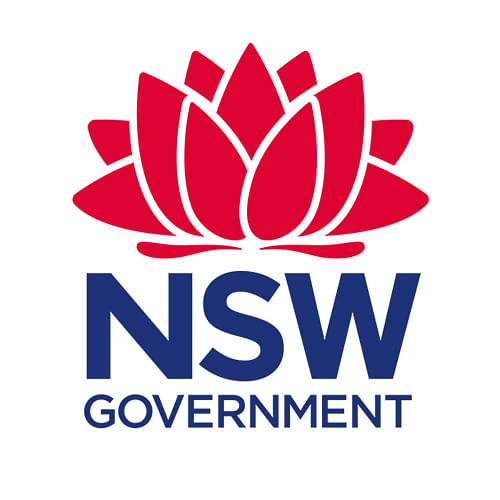 NSW Government log with link to Waste LessRecycle more.