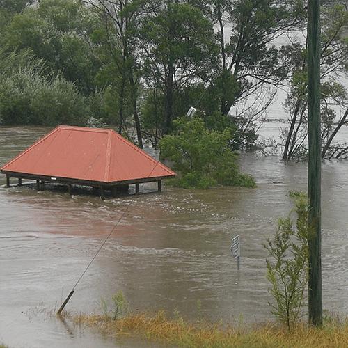 Towamba Bus Shelter, March 2011 floods.
