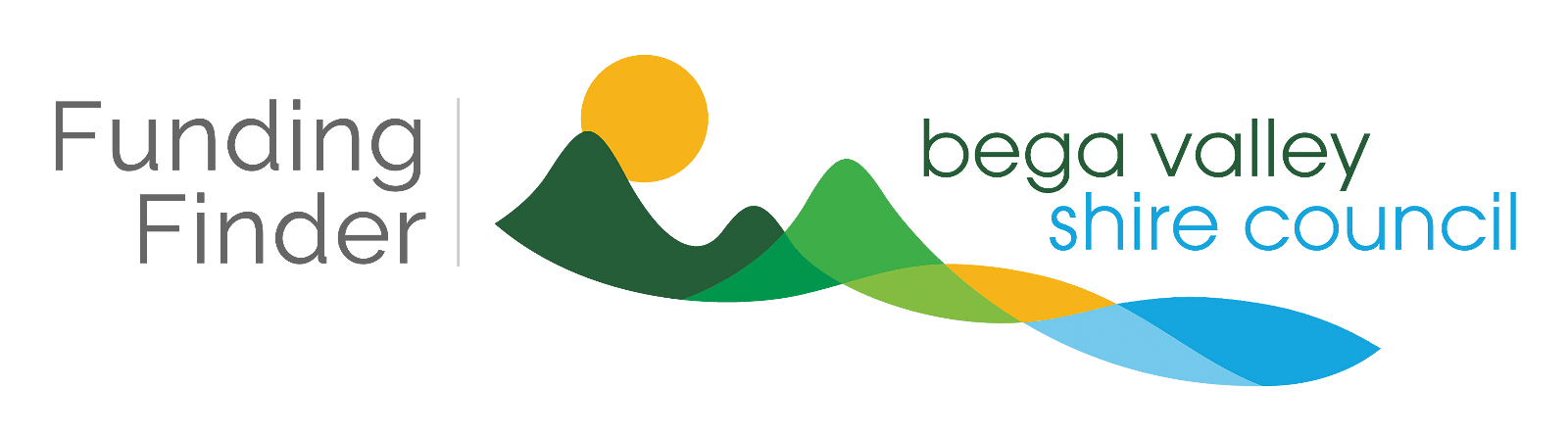 Logo Funding Finder, Bega Valley Shire Council.