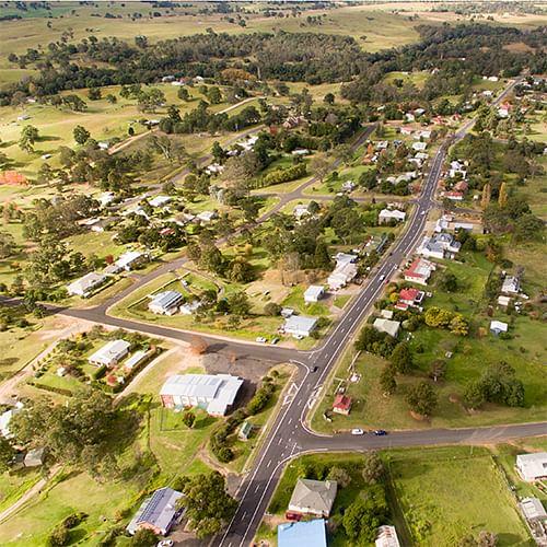 Image of Bemboka township and surrounds.