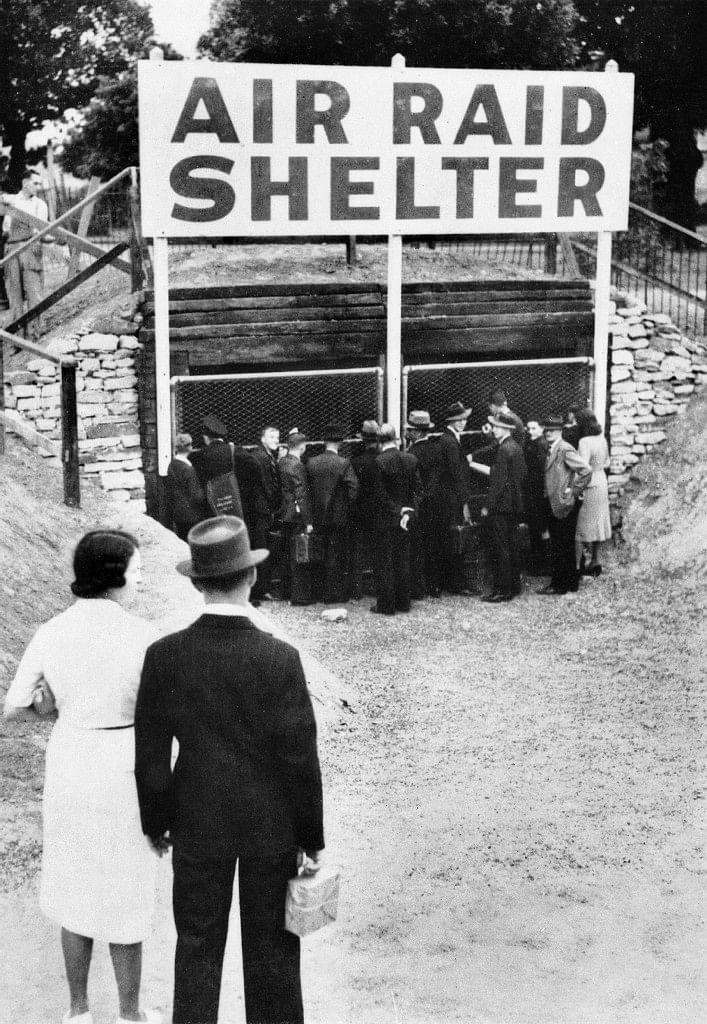 Air raid shelter in Australia 1942.