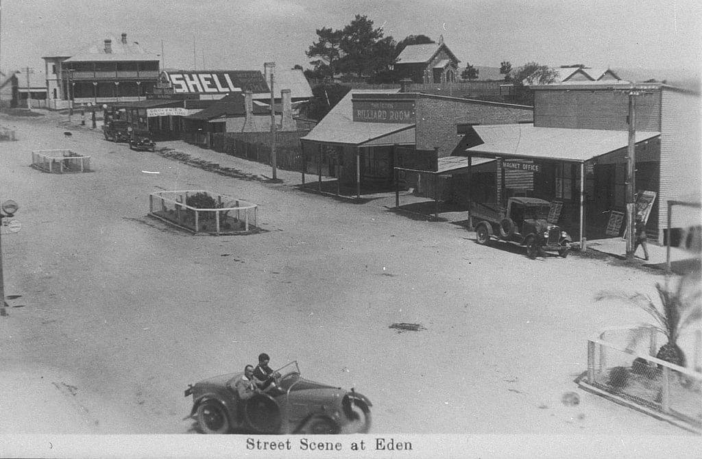 Eden's mian street in the 1930's.