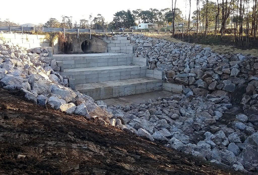 Helmers Crossing at Wolumla was just one site to come in for attention under the flood recovery program.