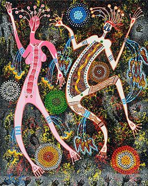 Joe McKenzie's 'Spirit Dance' winner of the $500 Bega Valley Mural Prize.