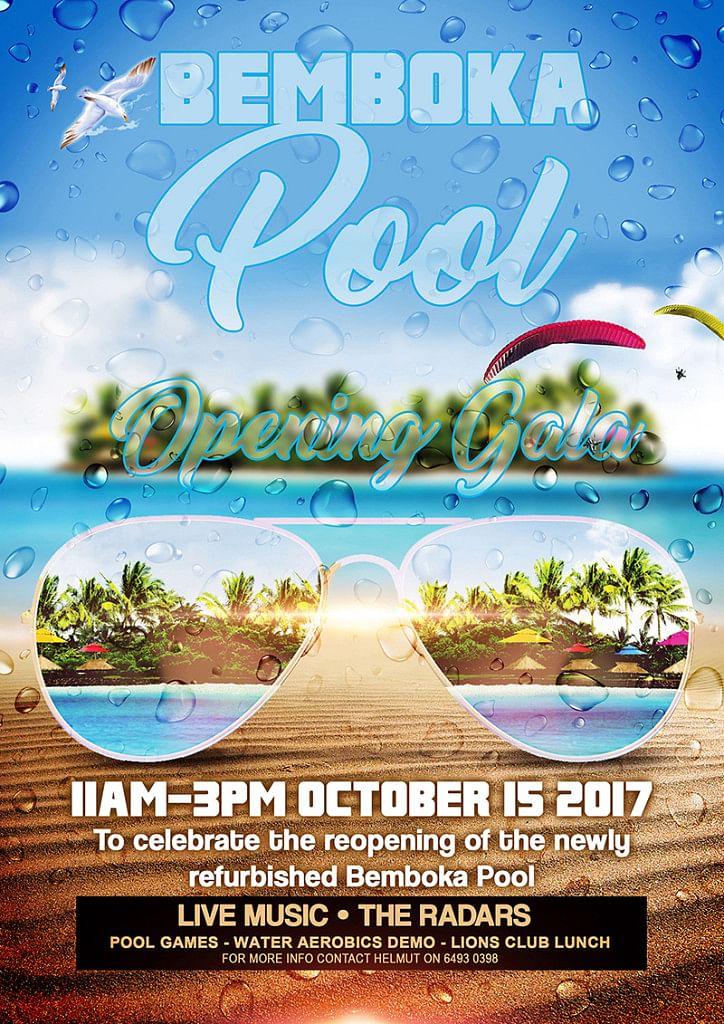 Bemboka pool opening gala day details.