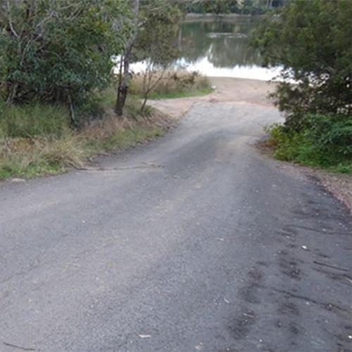 Blackfellows Lake boat ramp.