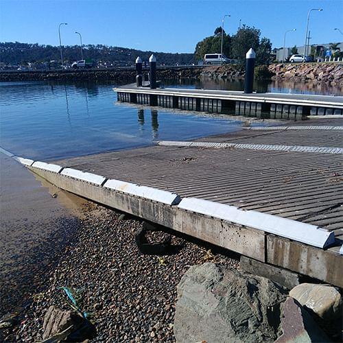 Merimbula boat ramp.
