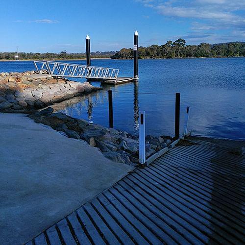 Mogareeka pontoon and boat ramp.
