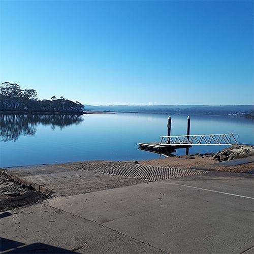 Pambula Lake boat ramp.