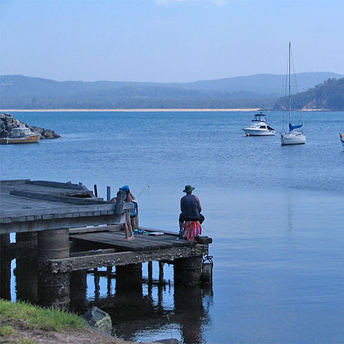 Quarantine Bay jetty.