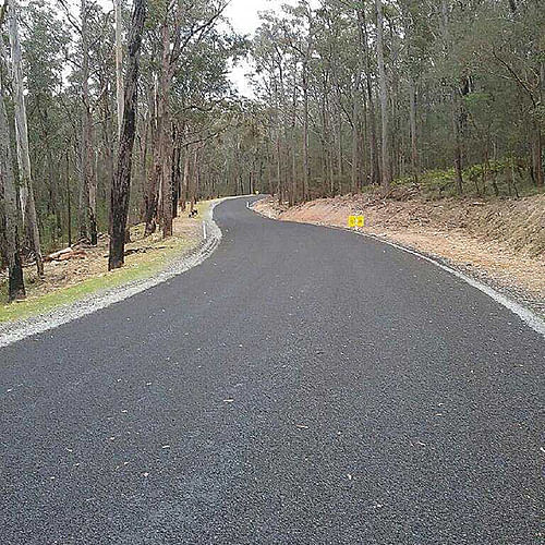 Towamba Road newly upgraded.