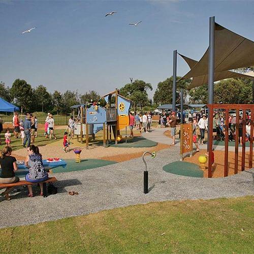 Merimbula's Ford park inclusive playground.