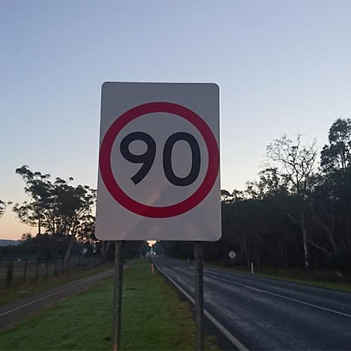 One of the new road signs going up around the shire.