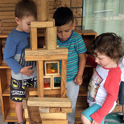 Jarrah, Jacob and Louie are among the children receiving a great start to their education at the Eden Child Care Centre.