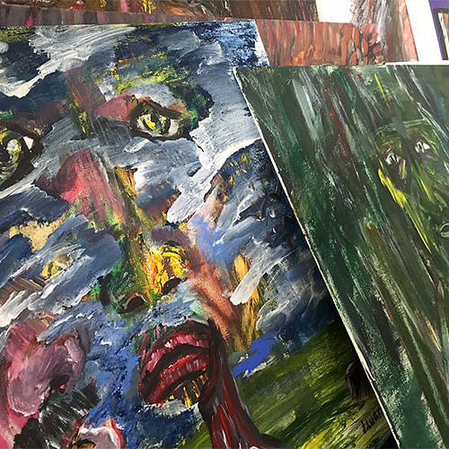 A selection of paintings by Iranian refugee, J. Luan, will be on display during the event.