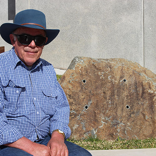 Guy Lucas is looking forward to the dedication of a tribute plaque to his grandfather Henry.