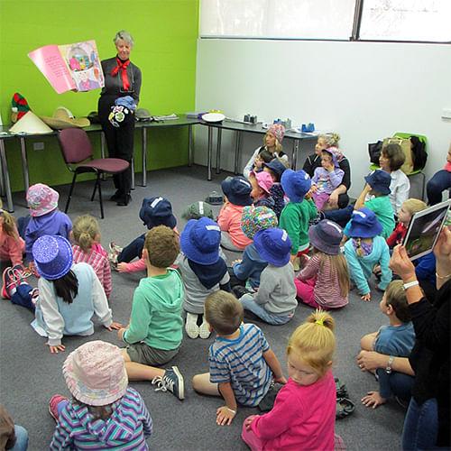 Children enjoying Storytime at Bega Library,