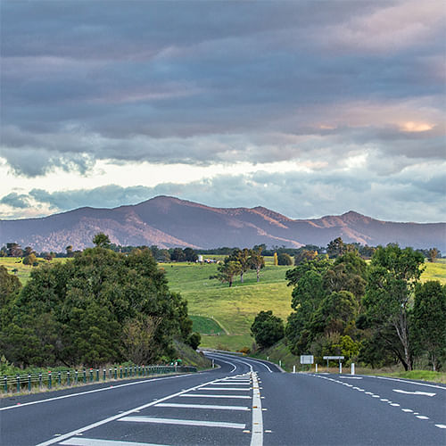 Image of a Bega Valley Road.