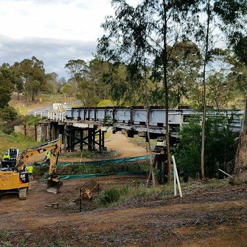 Pretty Point Bridge under construction