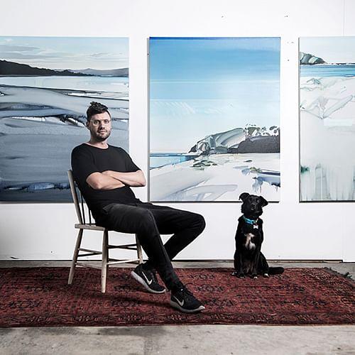 Julian Meagher in his studio.  Photo credit, Nick Walker.