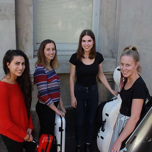 Members of the Aurelia Quartet.