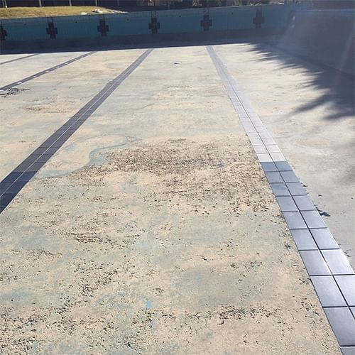 The concrete render at the Candelo swimming pools needs to be repaired before the pools can open for the season.