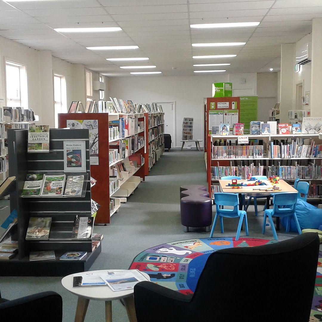 Interior of Eden library.