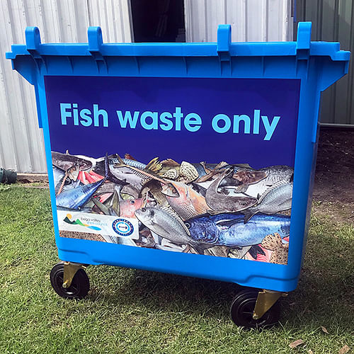 Specially marked blue bins are being installed for fish waste at six of the Shire's boat ramps. Local company Ocean2earth will collect the waste and turn it into compost.