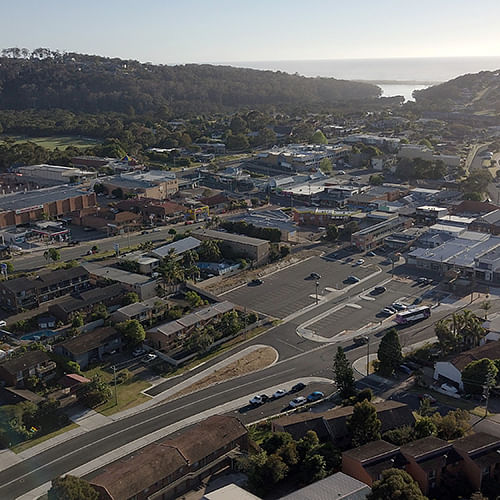 aerial view of Merimbula New South Wales Australia