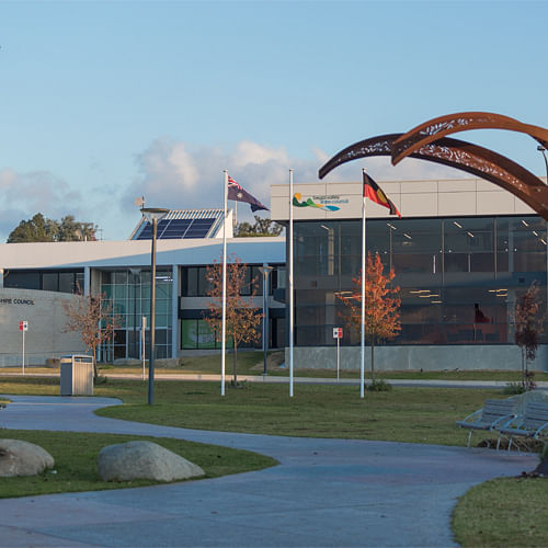 Picture of Council Office and Bega Valley Commemorative Civic Centre.