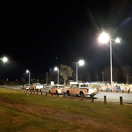 Upgraded lighting at Bega Sporting Complex.