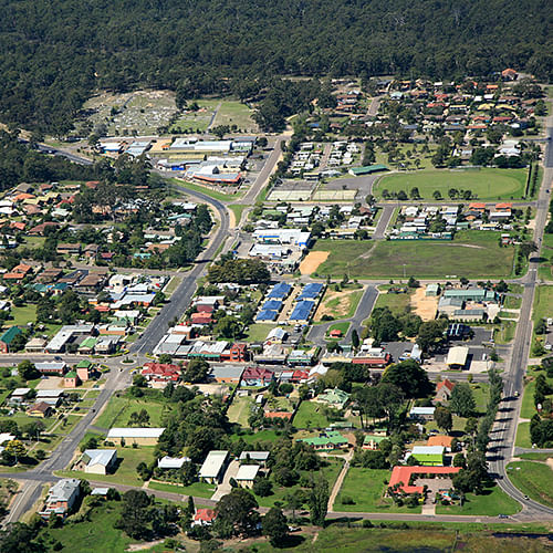 Pambula central business disctrict (CBD).