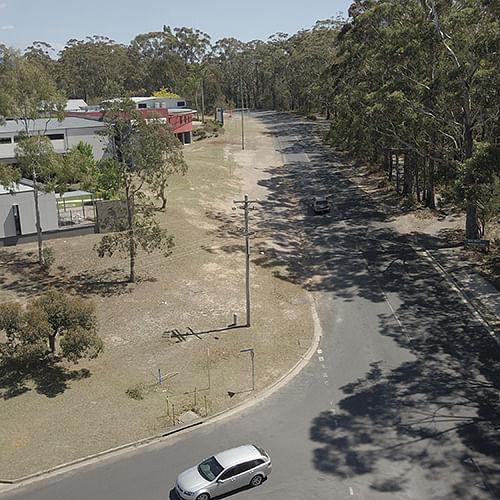 Pambula Beach Road, near Lumen Christi Catholic College.