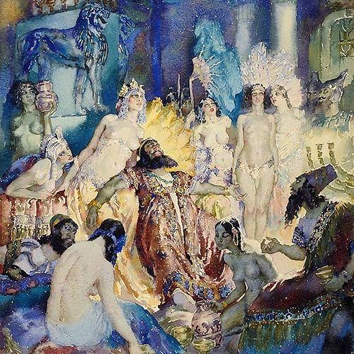 Norman Lindsay's 'Belshazzar' 1934.