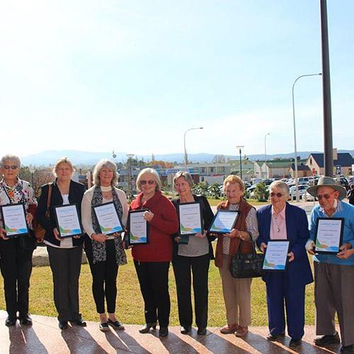 2017 Bega Valley Shire Cojmmunity Service Awards (Medallion) awardees.