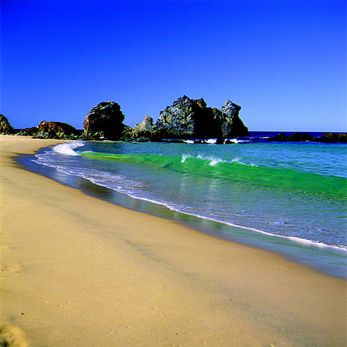 Bermagui's Camel Rock, one of eight local beachs that will be patrolled by professional lifeguards over summer.