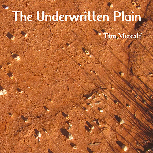 The underwritten plain cover of new poetry book by Tim Metcalf.