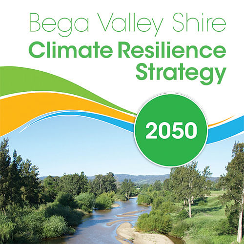 Cover of the draft Bega Valley Shire Climate Resilience Strategy.