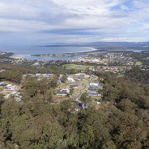 Aerial view of Mirador and Mermbula Bay