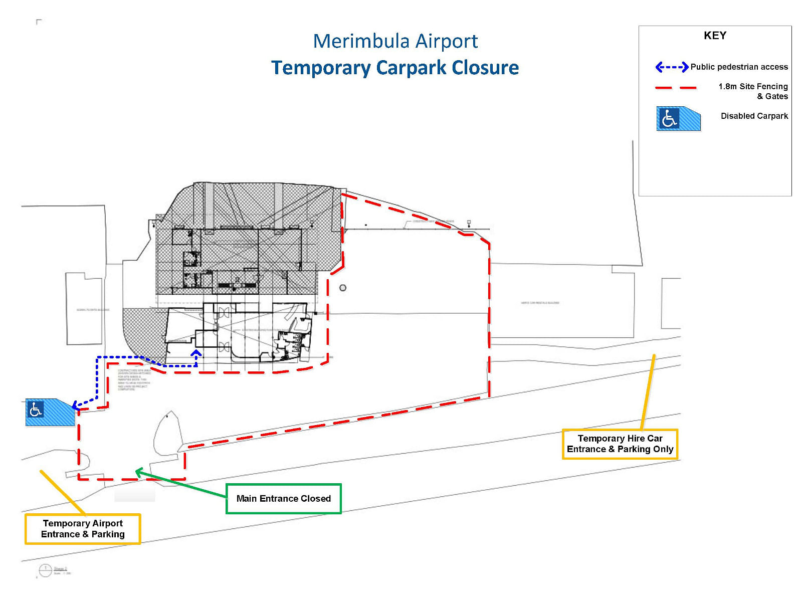 Temporary parking map.