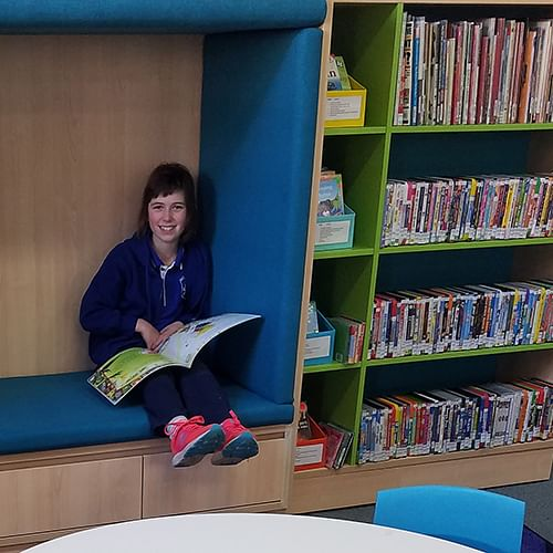 Tori (at Eden library) is looking forward to joining the Summer Reading Club in January.