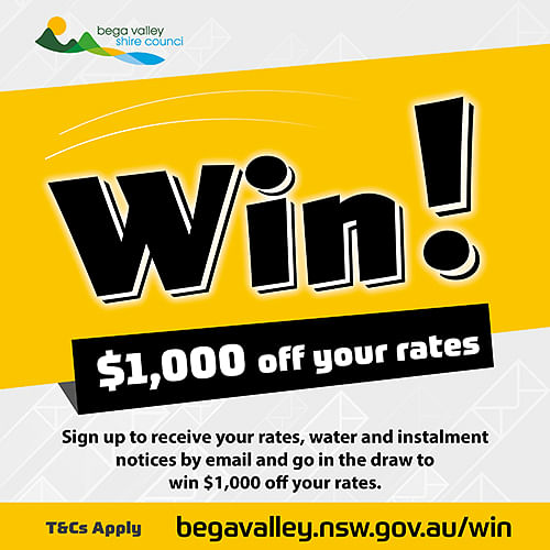 Council is encouraging property owners to sign up to receive their rates, water and instalment notices by email.