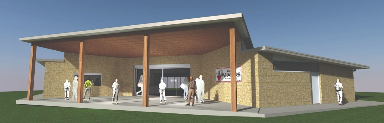 Construction has commenced on the new pavilion building at Eden's Barclay Street Sporting Complex.
