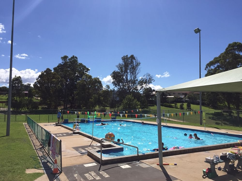 A sunny day for a swim at the Bemboka pool.